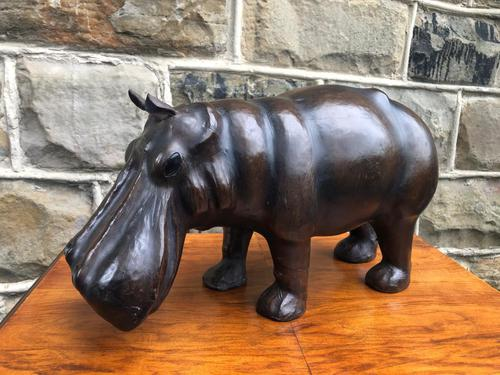 Liberty's of London Leather Hippo Foot Stool (1 of 7)
