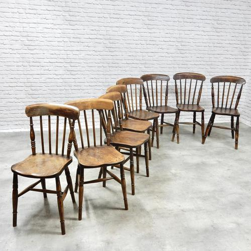 8 x 19th Century Windsor Kitchen Chairs (1 of 9)