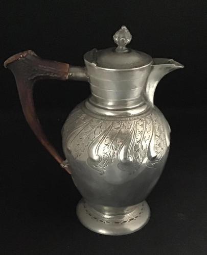 Mid Victorian Britannia Metal & Horn Handle Jug (1 of 5)
