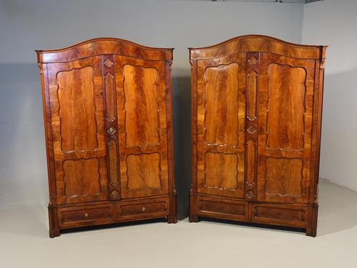 Quite Exceptional Pair of Mid 19th Century North European Wardrobes (1 of 7)