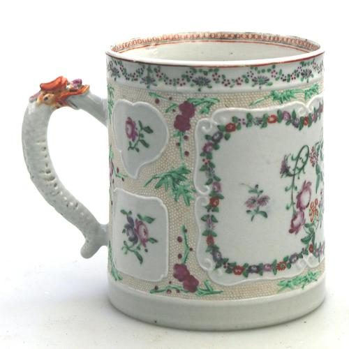 Fine & Unusual Chinese Famille Rose Export Porcelain Tankard 18th Century (1 of 9)