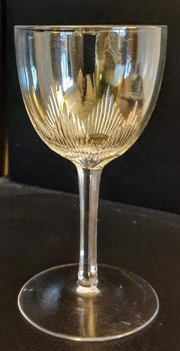 Regency Hand Cut Port Glass c.1825. (1 of 3)