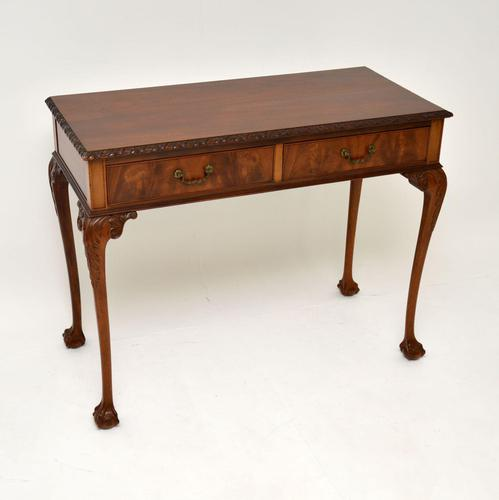 Antique Chippendale Style Mahogany Side / Console Table (1 of 10)