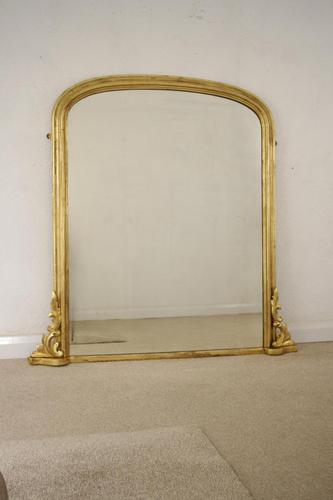 Victorian Gilt Wood Arch Top Overmantle Mirror (1 of 11)