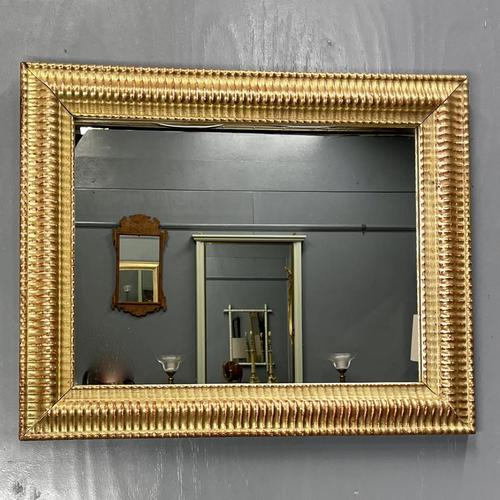 French Rippled Gilt Overmantle Mirror (1 of 8)
