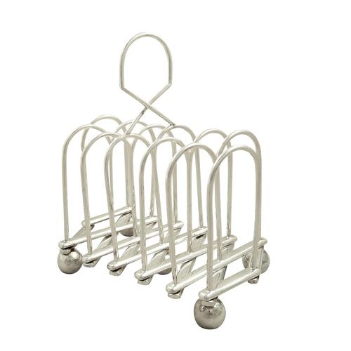 Antique Victorian Silver Plated Expanding Toast Rack c.1880 (1 of 9)