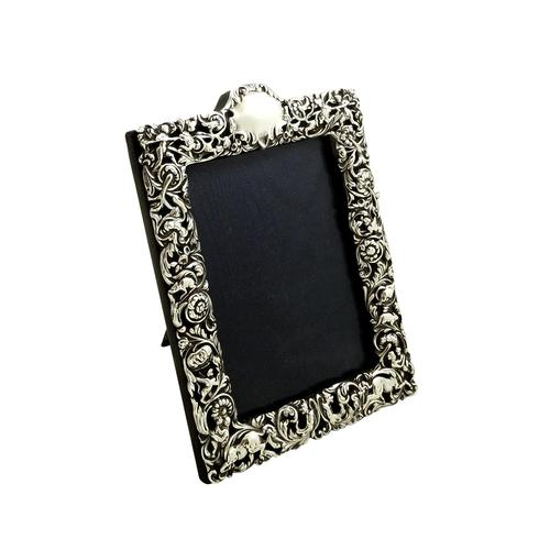 Antique Victorian Sterling Silver Photo Frame 1900 (1 of 10)