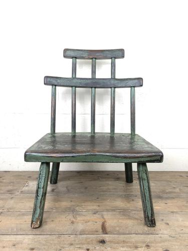 Unusual Primitive Style Painted Stick Chair (1 of 10)