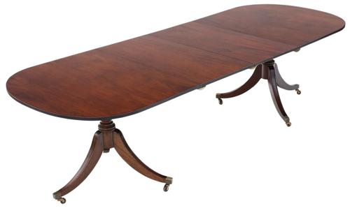 Mahogany Extending Pedestal Dining Table (1 of 12)
