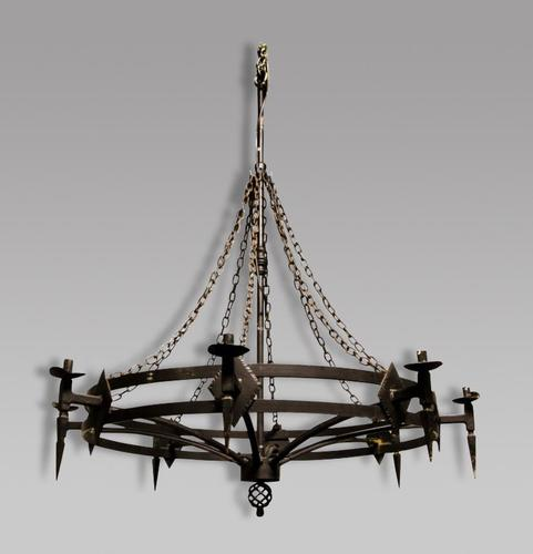 Gothic Style Wrought Iron Chandelier (1 of 2)