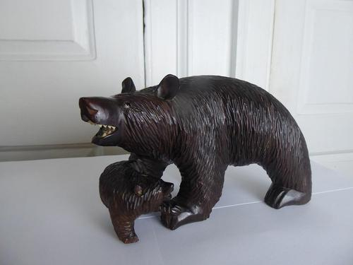 20th Century Black Forest Bear with Cub (1 of 8)