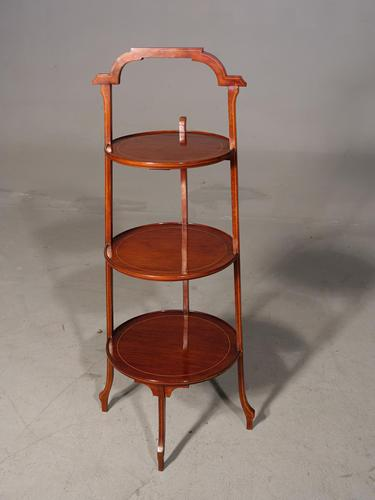 Good Early 20th Century Mahogany 3 Tier Cake Stand (1 of 4)
