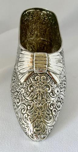 Large Very Rare Sterling Silver Shoe Box. Birmingham 1921 (1 of 9)