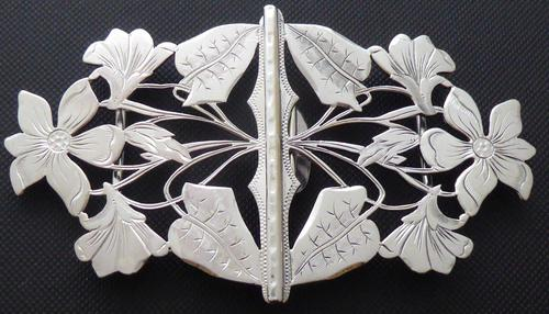 Rare 1902 Art Nouveau Hallmarked Solid Silver Nurses Belt Buckle Sydney & Co (1 of 10)