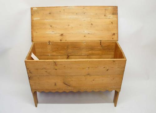 19th Century Pine Blanket Box or Chest on Stile Ends (1 of 15)