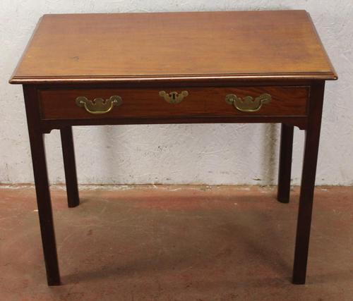 1880's Mahogany Side Table with Drawer (1 of 4)