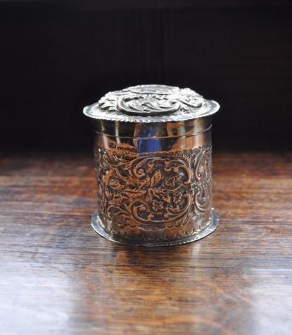 Antique Solid Silver Tea Caddy (1 of 5)
