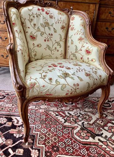 French Walnut Tub Chair (1 of 15)