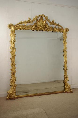 Victorian Large Giltwood Overmantle Mirror (1 of 12)