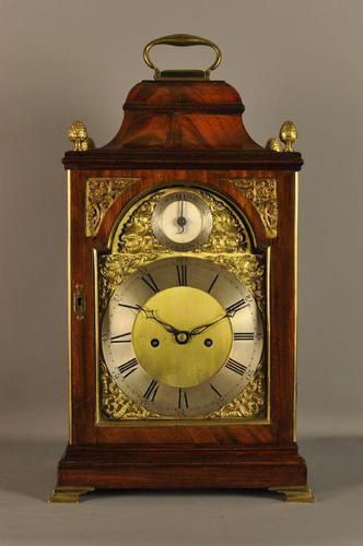 Mahogany Verge Repeating Fusee Bracket Clock (1 of 12)