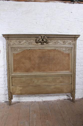 Fabulous Carved French Caned Kingsize  Headboard (1 of 6)