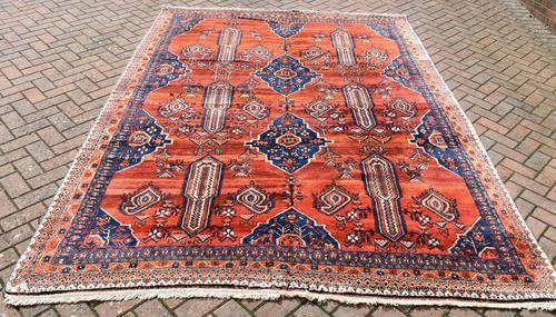 Old Afshar Carpet 305x209cm (1 of 9)