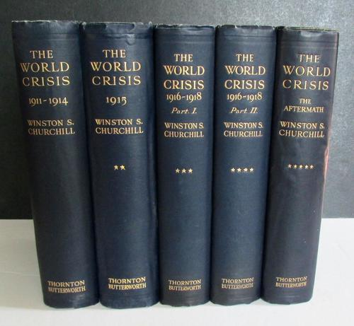1923 The World Crisis by Winston S Churchill - Volumes 1 to 5 1st Editions (1 of 4)