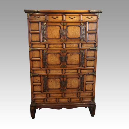 Antique Korean Burr Elm Cabinet (1 of 8)