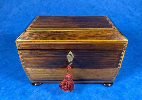 Regency Rosewood Twin Section Tea Caddy (1 of 12)