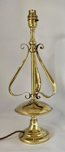 Stylish Brass Side Table Lamp c.1910 (1 of 8)