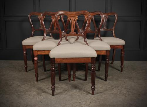 Set of 6 Rosewood Kidney Back Dining Chairs (1 of 14)