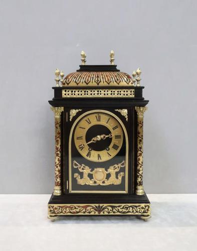 French 19th Century Ebonised & Boulle Religious Mantel Clock (1 of 10)
