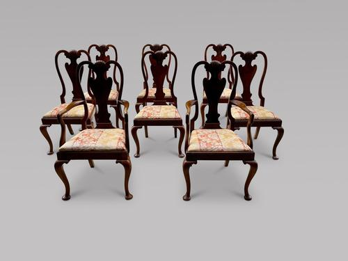 Set of Eight Walnut Dining Chairs in George I Style c.1900 (1 of 6)