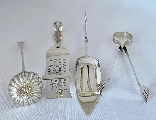 Four Victorian Silver Plated Serving Tools (1 of 5)