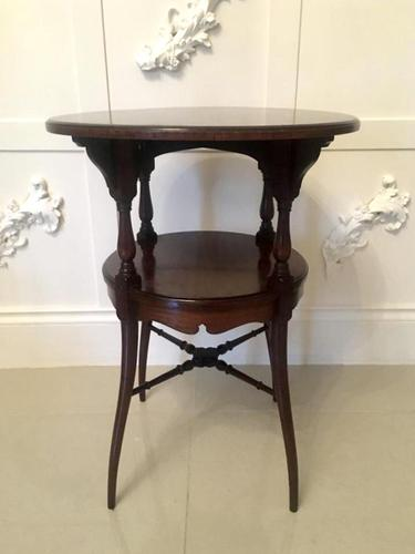 Antique Victorian Mahogany Lamp Table (1 of 6)