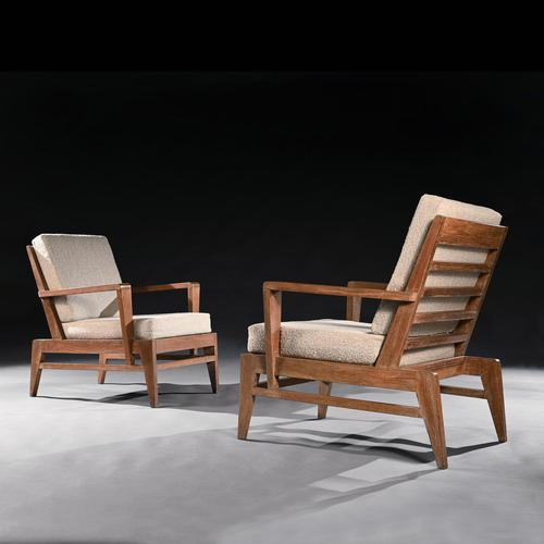 Iconic Pair of Rene Gabriel Mid 20th Century Oak Lounge Chairs (1 of 7)
