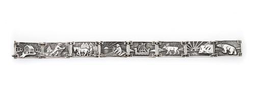 Norwegian Silver Panel Bracelet (1 of 3)