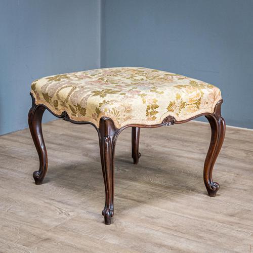 Mahogany Victorian Footstool (1 of 9)