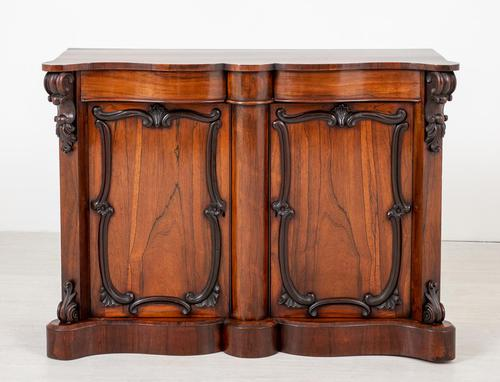 Good Victorian Rosewood Side Cabinet (1 of 8)