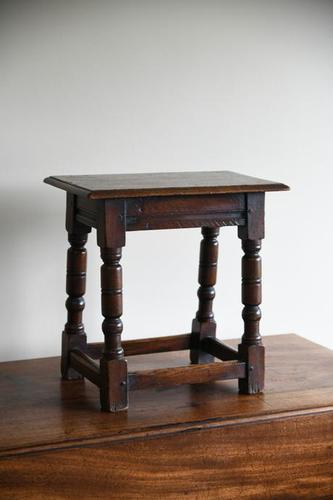 Charles II Style Oak Joint Stool (1 of 12)