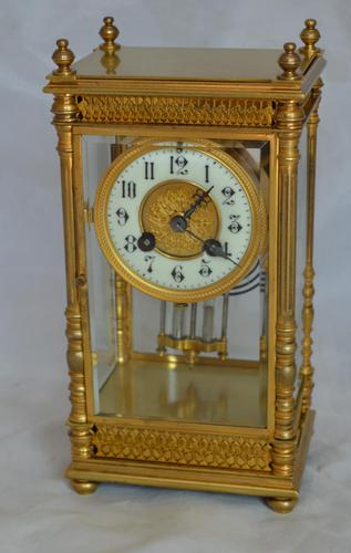 Four Glass Mantel Clock (1 of 6)