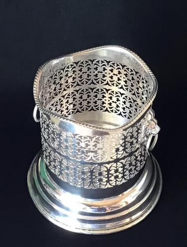 Silver Plate on Copper Reticulated Bottle Holder (1 of 5)