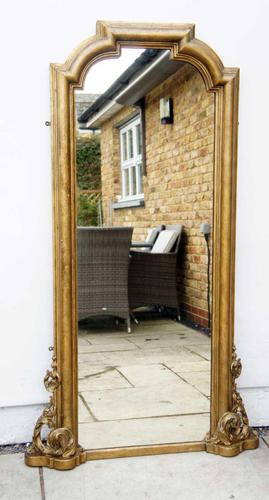 Full Height Victorian Giltwood Pier Mirror / Dressing Mirror (1 of 27)