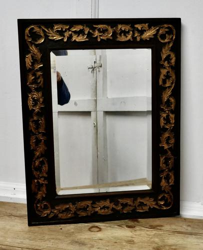19th century Carved Oak and Gilt Wall Mirror (1 of 6)
