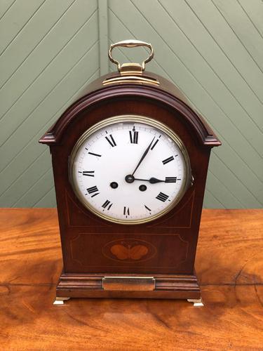 Edwardian Inlaid Mahogany Bracket Clock (1 of 11)