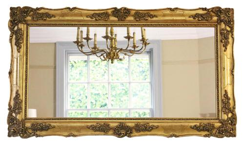 Antique Large Quality 19th Century Gilt Wall Mirror Overmantle (1 of 10)