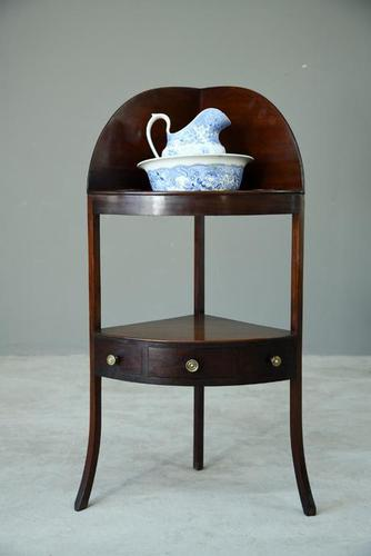 Georgian Mahogany Corner Washstand (1 of 8)