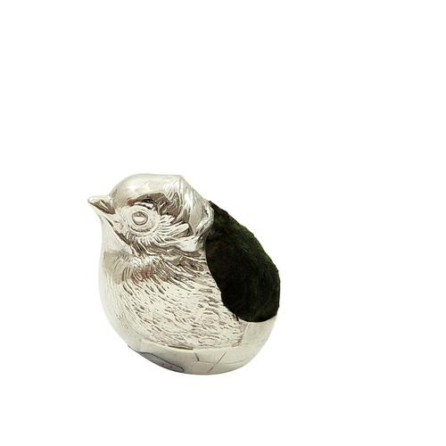 Antique Edwardian Sterling Silver Chick / Bird Pin Cushion 1908 (1 of 9)