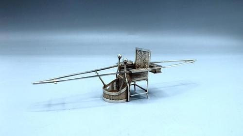 Antique Chinese Export Silver - Miniature Sedan Chair (1 of 8)