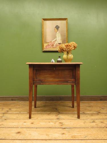 Small Rustic Antique Pine Table with Fall Front (1 of 17)